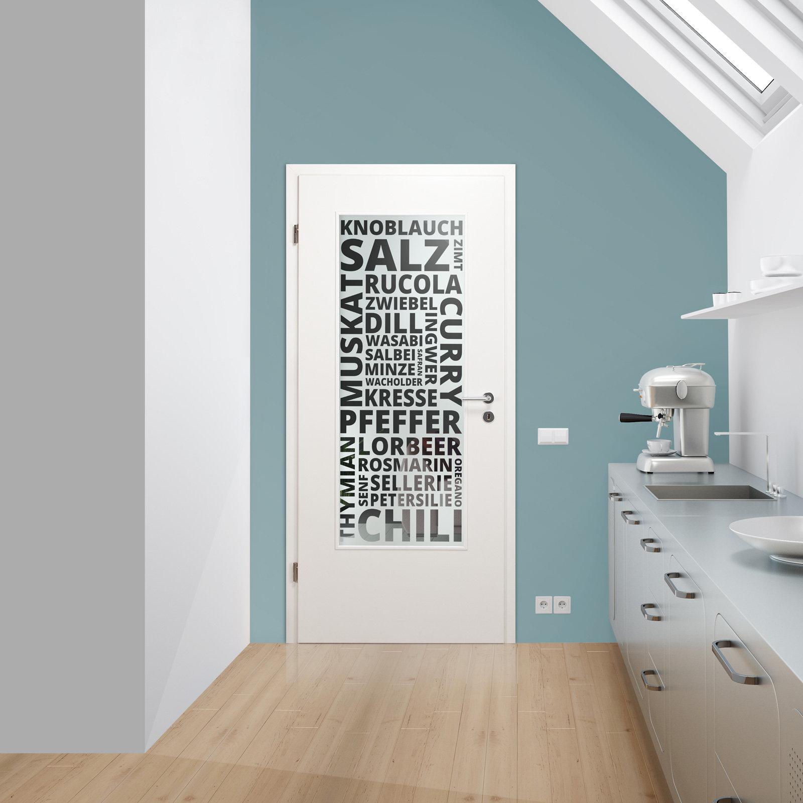 verglasung glaseinsatz f r holzt r 154 3 f la klarglas mit dekor spices ebay. Black Bedroom Furniture Sets. Home Design Ideas