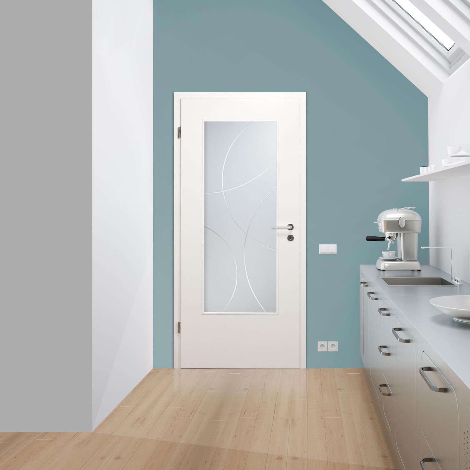 verglasung glaseinsatz f r holzt r 167 3r s la satinato mit rillenschliff bola ebay. Black Bedroom Furniture Sets. Home Design Ideas